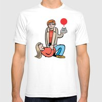 ANSWER Mens Fitted Tee White SMALL