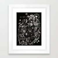 Spark-Eyed Oblivion Cascade Blues Framed Art Print