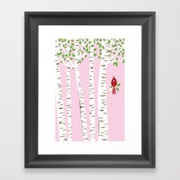 Summer Cardinal Wall Art Framed Art Print