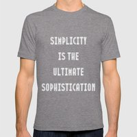Simplicity Is The Ultima… Mens Fitted Tee Tri-Grey SMALL