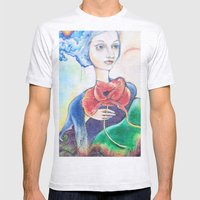 painted lady Mens Fitted Tee Ash Grey SMALL