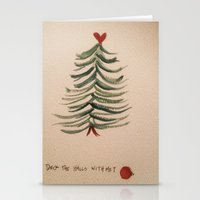 Deck the Halls with Me? Stationery Cards