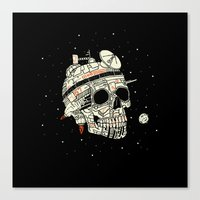 Planet Space Skull  Canvas Print