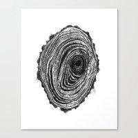 Tree Rings - Dark Canvas Print