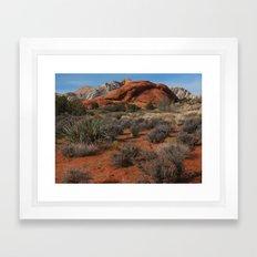 Desert Snow Framed Art Print