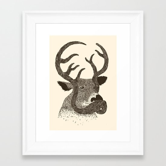 Moustaches Make a Difference Framed Art Print