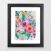 High by the Beach Floral Framed Art Print