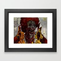 Mac Donalds Zombie Framed Art Print