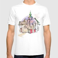 Russian church Mens Fitted Tee White SMALL