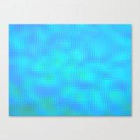 Blurry Blue Glass Canvas Print