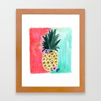 Pineapple Leia Tropical Framed Art Print