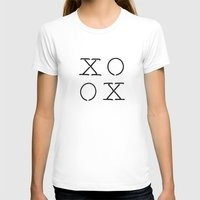 XOXO Womens Fitted Tee White SMALL