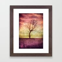 ATMOSPHERIC TREE - October Mood Framed Art Print