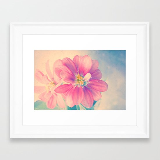 Flowers forest  Framed Art Print