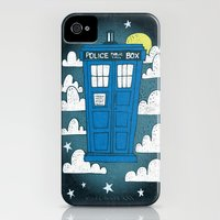 iPhone 4s & iPhone 4 Cases featuring TARDIS by Matthew Taylor Wilson