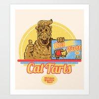 Cat Tarts Art Print
