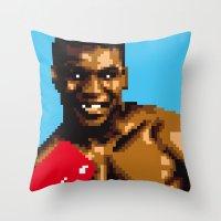 American puncher Throw Pillow