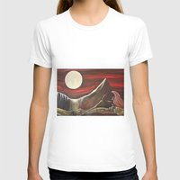 Gaia And Luna Grande Womens Fitted Tee White SMALL