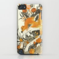 iPhone Cases featuring fox in foliage by Teagan White