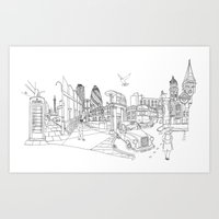 London! Original landscape version Art Print
