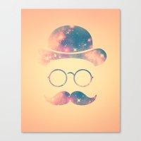Retro Face With Moustach… Canvas Print