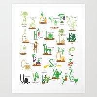 Alphabet Veggies Art Print