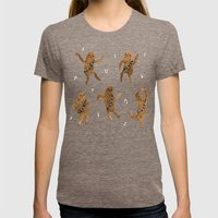 Wookie Dance Party Womens Fitted Tee Tri-Coffee SMALL