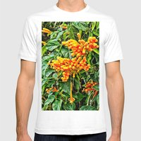 Spectacular orange trumpet flower Mens Fitted Tee White SMALL
