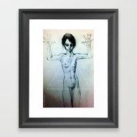Presentation (the Girl o2) Framed Art Print