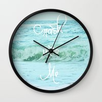 Crash into Me Wall Clock