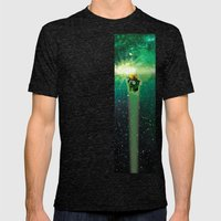 Super Bears - ACTION! the Green One Mens Fitted Tee Tri-Black SMALL
