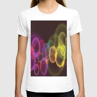 Rainbow Bubbles Design Womens Fitted Tee White SMALL