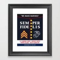 US Marine Corps, USA. Framed Art Print