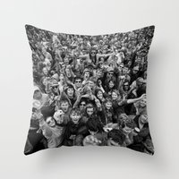 Mass Hysteria Throw Pillow
