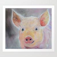 Lilly's Pig Art Print