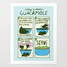 HOW TO MAKE GUACAMOLE Art Print