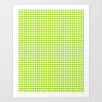 Picnic Pals Gingham In C… Art Print