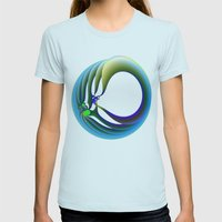 Trapped Womens Fitted Tee Light Blue SMALL
