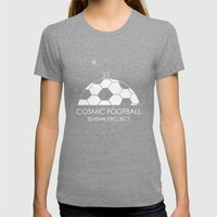 COSMIC FOOTBALL by ISHISHA PROJECT Womens Fitted Tee Tri-Grey SMALL
