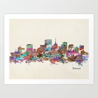 Richmond Virginia Skylin… Art Print