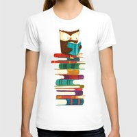 rainbow T-shirts featuring Owl Reading Rainbow by Picomodi