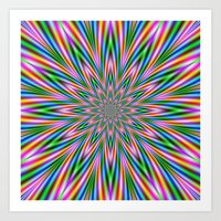 Exploding Star In Pink A… Art Print