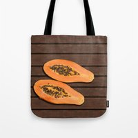 papaya fruit Tote Bag