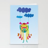 monster Stationery Cards featuring Monster by Maria Jose Da Luz