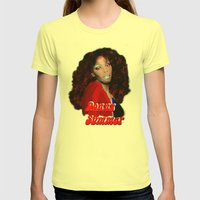 Donna Summer Womens Fitted Tee Lemon SMALL