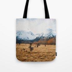 Peaceful New Zealand mountain landscape Tote Bag