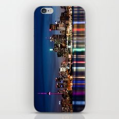 Toronto Skyline At Night From Polson St No 2 iPhone & iPod Skin