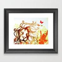 Beast And The Butterflie… Framed Art Print