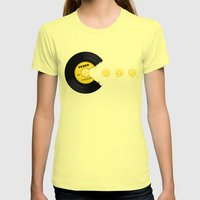 You Give Me Fever Womens Fitted Tee Lemon SMALL