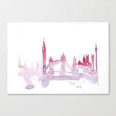 Watercolor landscape illustration_London Canvas Print